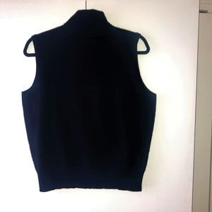Lord & Taylor Black Sleeveless Turtle Neck  Top